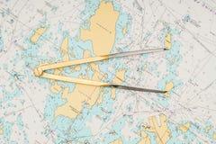 Ainda-vida da navegação Conceito da navigação Foto de Stock