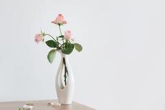Ainda vida da rosa do rosa Imagem de Stock Royalty Free
