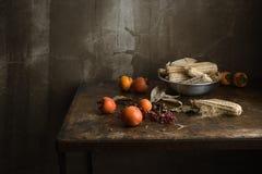 Ainda vida das frutas e legumes Fotografia de Stock