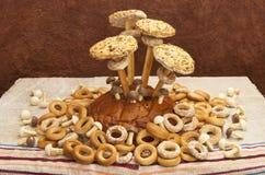 Ainda vida das pastelarias e dos bagels Fotografia de Stock Royalty Free