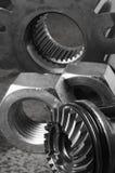 Ainda-vida das peças mecânicas Fotografia de Stock