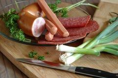 Ainda vida das salsichas Imagem de Stock Royalty Free