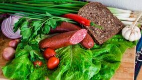 Ainda vida de carnes do supermercado fino Imagens de Stock