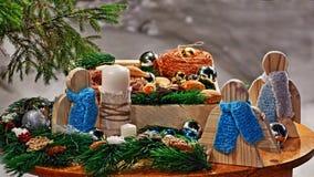 Ainda-vida de Christmassy fotografia de stock royalty free