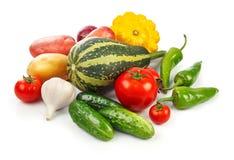 Ainda vida de comer saudável dos legumes frescos Fotografia de Stock Royalty Free