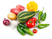 Ainda vida de comer saudável dos legumes frescos Fotografia de Stock