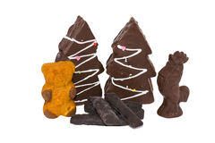 Ainda vida de doces do chocolate Imagens de Stock Royalty Free