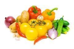 Ainda vida de legumes frescos Fotos de Stock Royalty Free