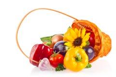 Ainda vida de legumes frescos e da erva orgânicos Fotografia de Stock