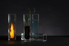 A ainda-vida de quatro elementos imagens de stock