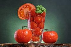 Ainda-vida de tomates frescos Imagens de Stock