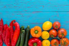 Ainda vida de vegetais saudáveis frescos sortidos Imagens de Stock Royalty Free