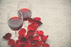 Ainda vida de vidros de vinho Imagem de Stock