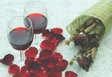 Ainda vida de vidros de vinho Fotografia de Stock