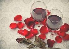 Ainda vida de vidros de vinho Foto de Stock