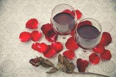 Ainda vida de vidros de vinho Fotos de Stock