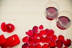 Ainda vida de vidros de vinho Fotos de Stock Royalty Free