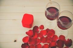 Ainda vida de vidros de vinho Foto de Stock Royalty Free