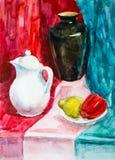 Ainda vida, desenho da aquarela Foto de Stock Royalty Free