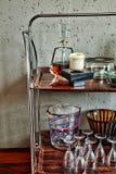 Estação velha retro do licor da forma do vintage Fotografia de Stock