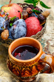 Ainda-vida do outono com chá Imagem de Stock