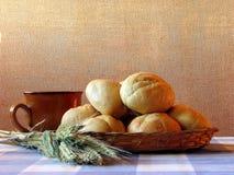 Ainda-vida do pão e do trigo Imagens de Stock