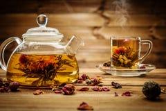 Ainda-vida do tema do chá Foto de Stock