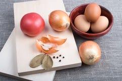 Ainda vida dos ingredientes para cozinhar no estilo do vintage Imagens de Stock