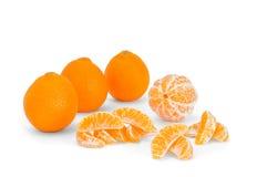 Ainda vida dos mandarino Fotografia de Stock