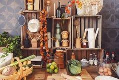 Ainda vida dos objetos da cozinha Imagem de Stock Royalty Free