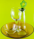 ainda vida dos objetos de vidro Fotografia de Stock Royalty Free