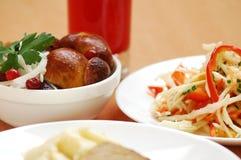 Ainda-vida dos pratos Foto de Stock