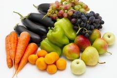 Ainda-vida dos vegetais e da fruta Fotos de Stock