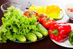 Ainda vida dos vegetais na placa Imagens de Stock