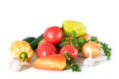 Ainda vida dos vegetais no branco Foto de Stock