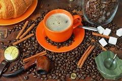 Ainda vida em um assunto do café em um estilo retro Fotos de Stock Royalty Free