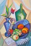 Flores e fruto Imagem de Stock Royalty Free