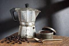 Ainda vida, fabricante de café Fotografia de Stock