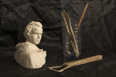 Ainda vida 1 ferramentas do escultor foto de stock