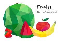 Ainda vida, fruto, estilo geométrico Vetor Fotos de Stock Royalty Free