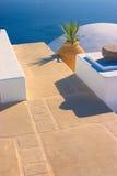 Ainda-vida grega, Santorini fotografia de stock