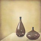 Ainda vida minimalista com vidros de Murano Imagens de Stock