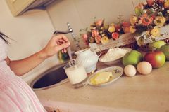 Ainda vida na cozinha Foto de Stock Royalty Free