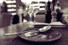 Ainda vida no restaurante Imagem de Stock