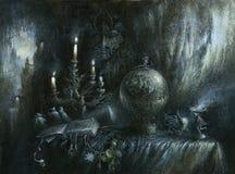 Ainda vida oculto ilustração royalty free