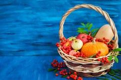 Ainda vida outonal com abóboras, maçãs e sorva Fotos de Stock