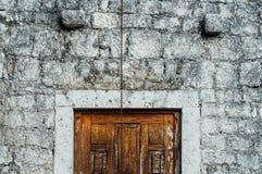 Ainda vida 1 Porta velha da parede fotografia de stock