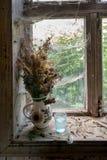 Ainda vida rústica com o ramalhete de flores secadas Imagem de Stock Royalty Free