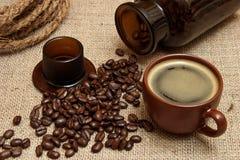 Ainda vida retro com café Fotografia de Stock