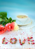 Ainda vida romântica Imagens de Stock Royalty Free